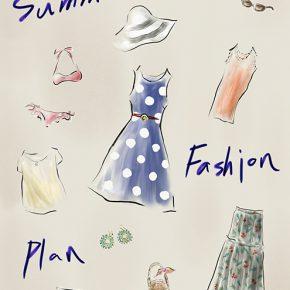 夏のファッション計画〜カラフルなファッションアイテムたち