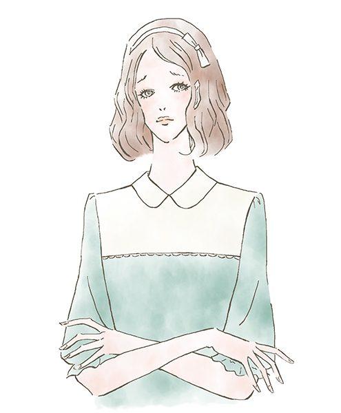 ふわふわヘアの女の子〜女性向け情報サイトMINARIでイラストを描かせていただきました。