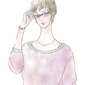 眼鏡をかけた女の子〜女性向け情報サイトMINARIでイラストを描かせていただきました。