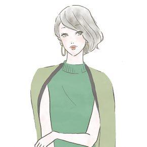 こなれヘアの女性〜「ららぽーと」「ラゾーナ」のファッションWebマガジン『KIKONAS』で イラストを描かせていただきました