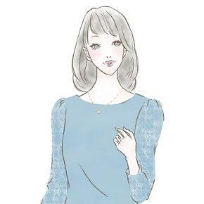 清楚な女性〜「ららぽーと」「ラゾーナ」のファッションWebマガジン『KIKONAS』で イラストを描かせていただきました