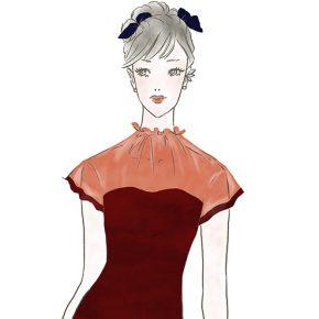 ドレスアップした女性〜「ららぽーと」「ラゾーナ」のファッションWebマガジン『KIKONAS』で イラストを描かせていただきました