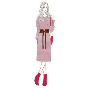 セットアップの女性〜三井不動産LaLaport&LAZONAのWEBマガジン「KIKONAS(キコナス)」イラストを描かせていただきました